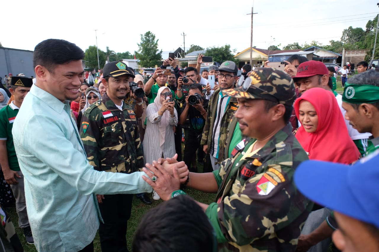 Adnan Sambut Long March GP Ansor di Pattalassang
