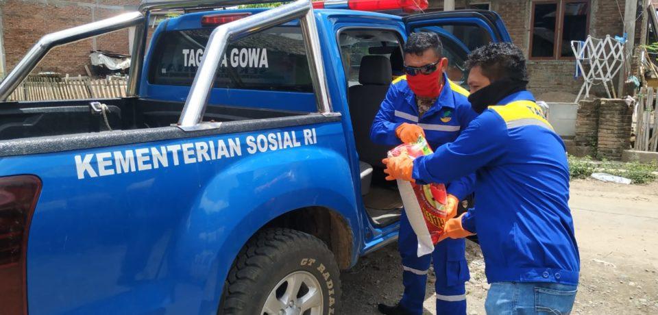 Pemkab Gowa Distribusi Bantuan Sembako untuk Warga ODP, PDP dan Positif Covid-19