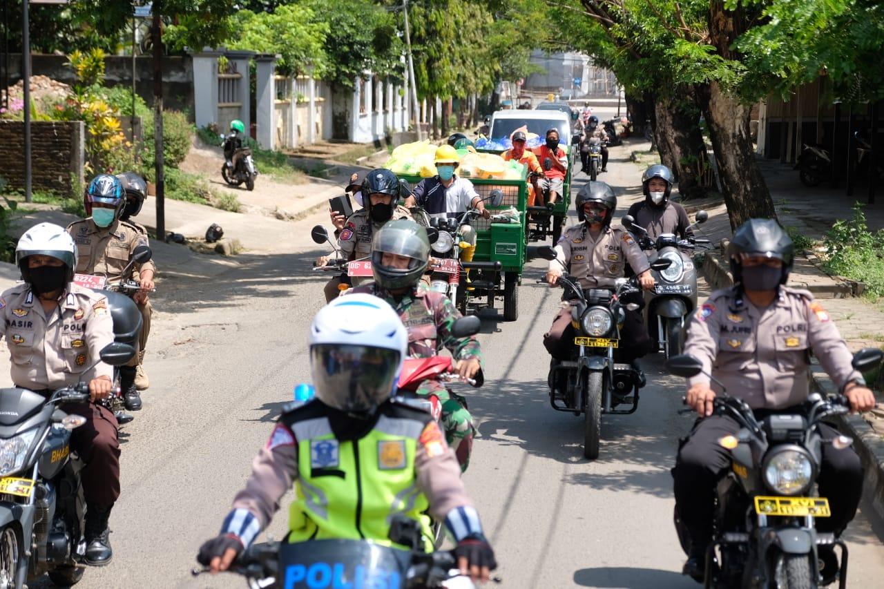 Pendistribusian 50.000 Paket Sembako di Gowa Dikawal Ketat Personil Gabungan