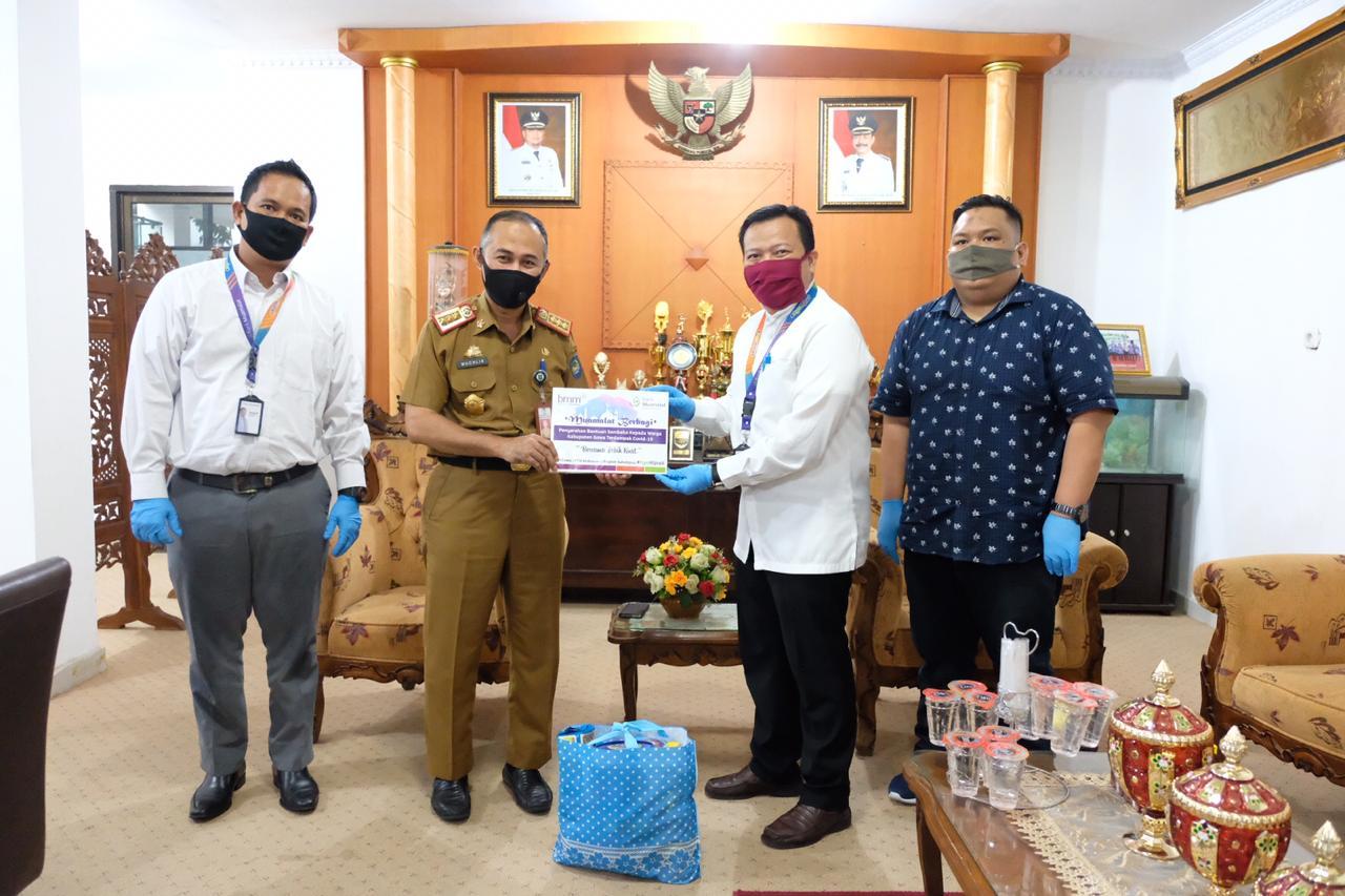 Pemkab Gowa Terima Bantuan Paket Sembako dari Bank Muamalat KCP Gowa
