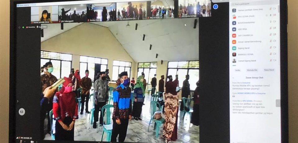 501 PPS di Kabupaten Gowa Dilantik Secara Virtual
