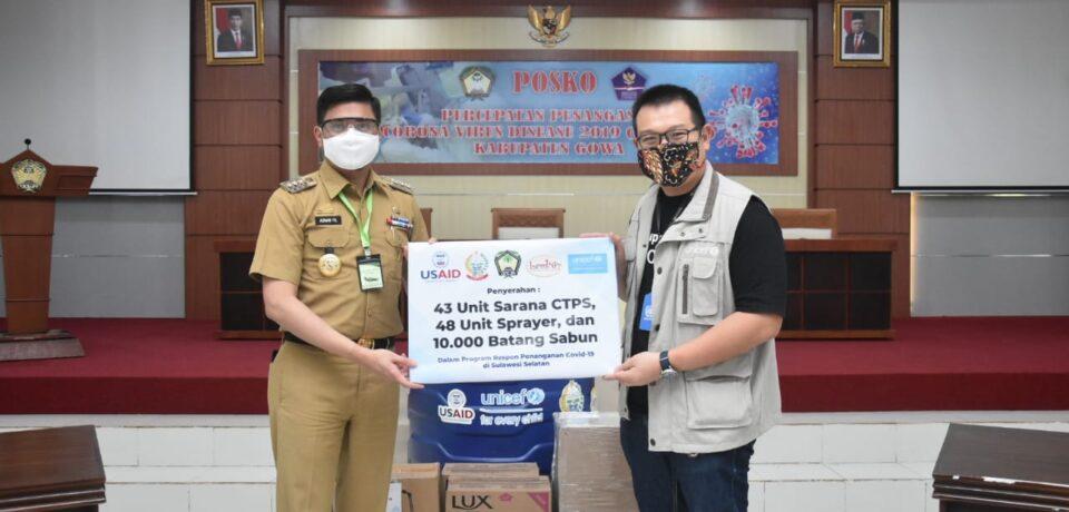 Pemkab Gowa Terima Bantuan Alat Cuci Tangan dari UNICEF-Lemina