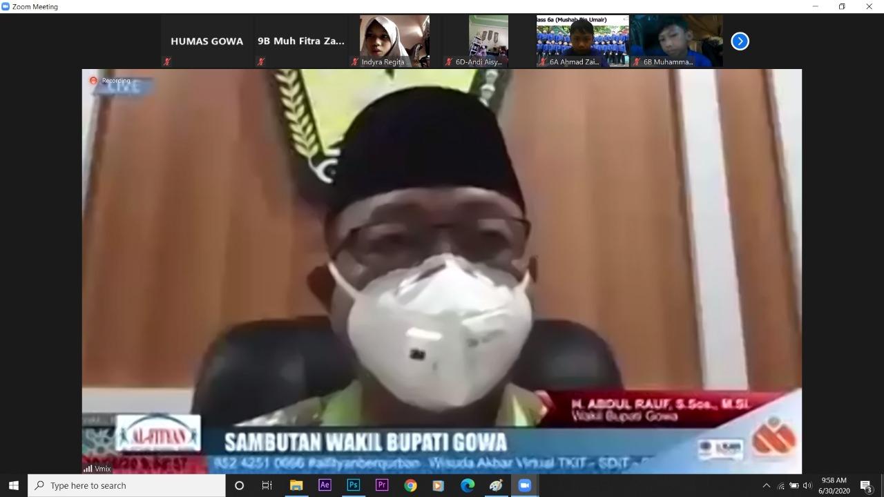 Wisuda Akbar Yayasan Al-fityan School Gowa, Wabup Gowa: Pendidikan Tolak Ukur Kemajuan Bangsa