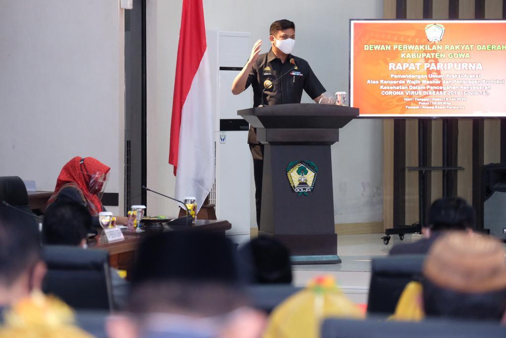 8 Fraksi DPRD Gowa Dukung Ranperda Wajib Masker dan Penerapan Protokol Kesehatan Segera Diselesaikan