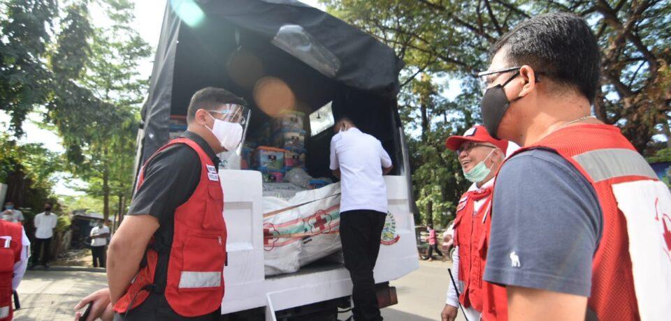 Bupati Gowa selaku Ketua PMI Sulsel Lepas Bantuan Bencana Untuk Luwu Utara