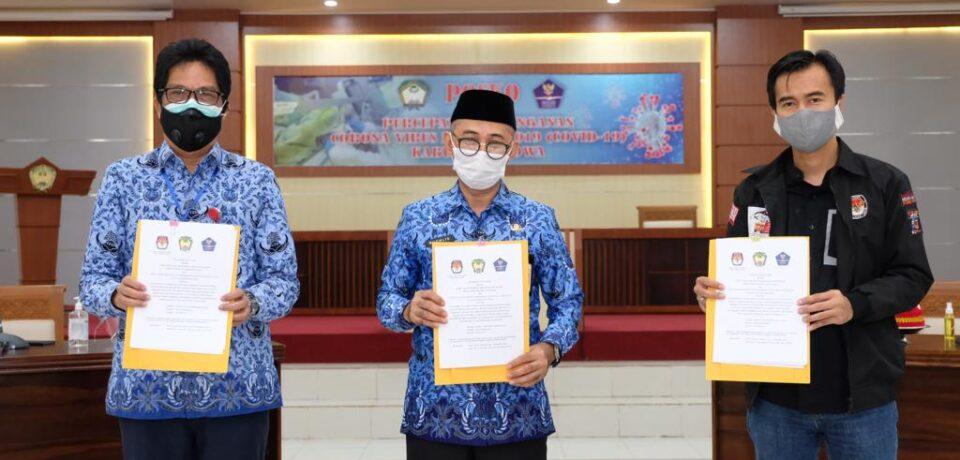 KPU, Gugus Tugas dan Dinkes Gowa Jalin Kerjasama Ciptakan Pilkada Aman Covid-19