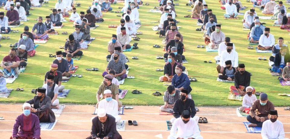 Pelaksanaan Shalat Idul Adha di Gowa Terapkan Protokol Kesehatan Ketat