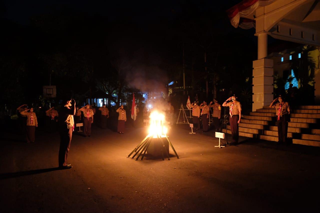 Malam Ulang Janji, Bupati Adnan: Mari Jadikan Ini Momentum Kebangkitan Gerakan Pramuka Indonesia
