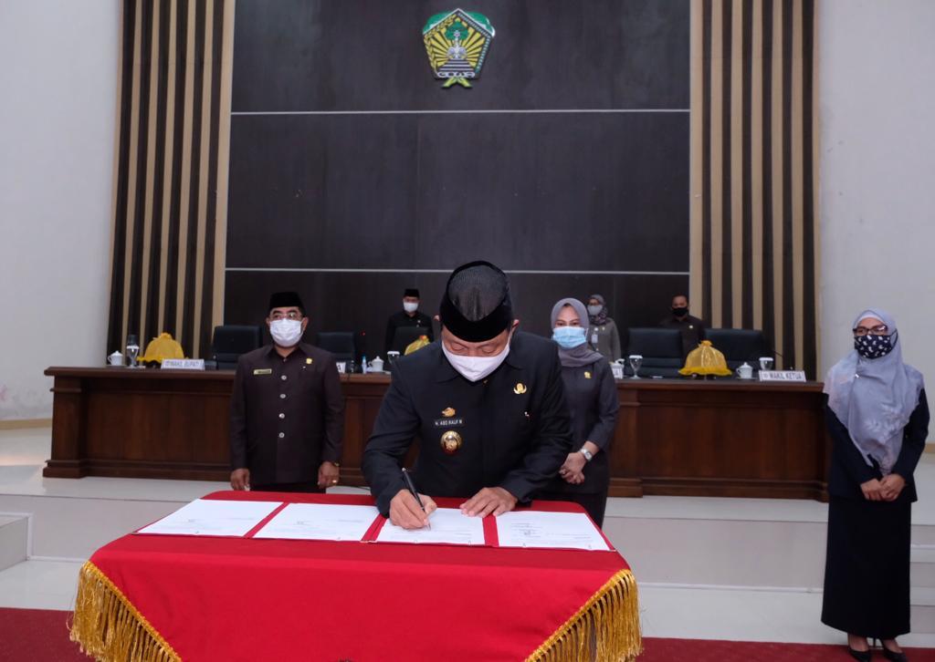DPRD Gowa Sahkan Perda Wajib Masker dan Penerapan Protokol Kesehatan
