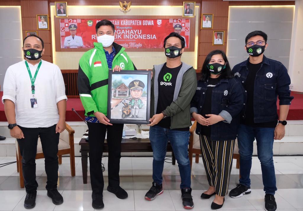 Go-jek Makassar Siap Bantu Pemkab Gowa Cegah Penularan Covid-19