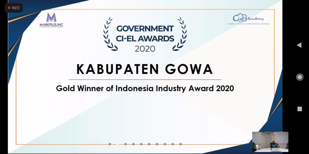 Gowa Sabet Dua Penghargaan Sekaligus di Bidang Perdagangan dan Perindustrian
