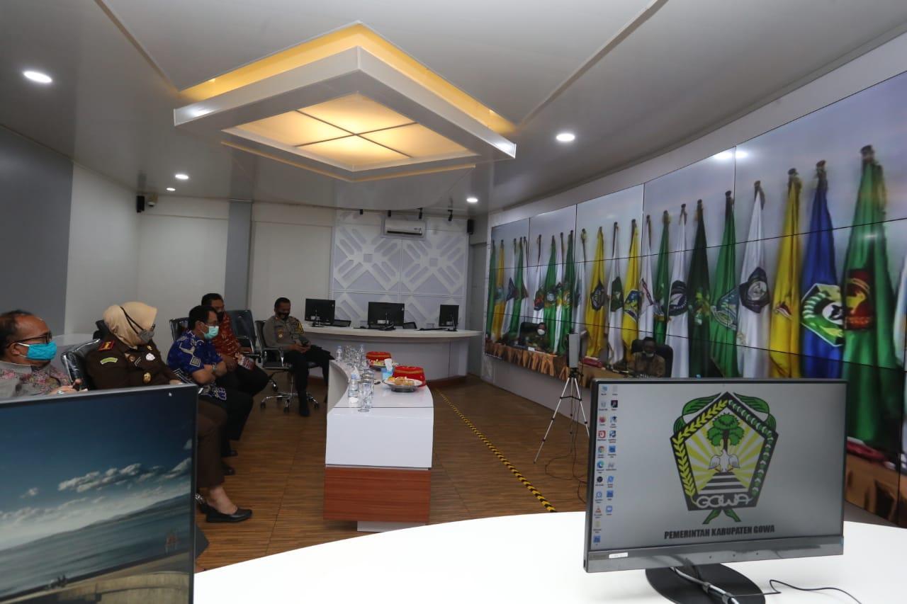 Pjs Bupati Gowa Ikuti Rakor Analisa dan Evaluasi Pelaksanaan Kampanye Pilkada Serentak 2020