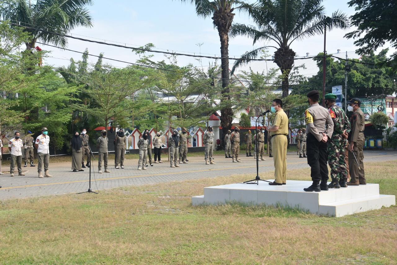 Pjs Bupati Gowa Pimpin Apel Operasi Penegakan Protkes