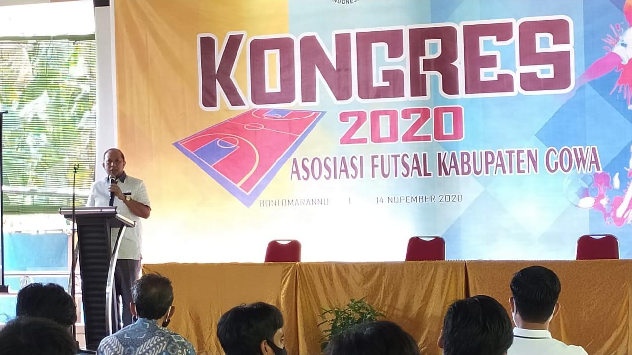 Kadispora Harap AFK Bisa Majukan Futsal di Kabupaten Gowa
