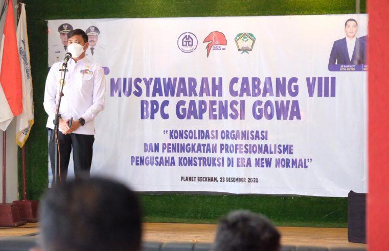 Adnan Harap Gapensi Lahirkan Program yang Berkontribusi Terhadap Pembangunan di Gowa