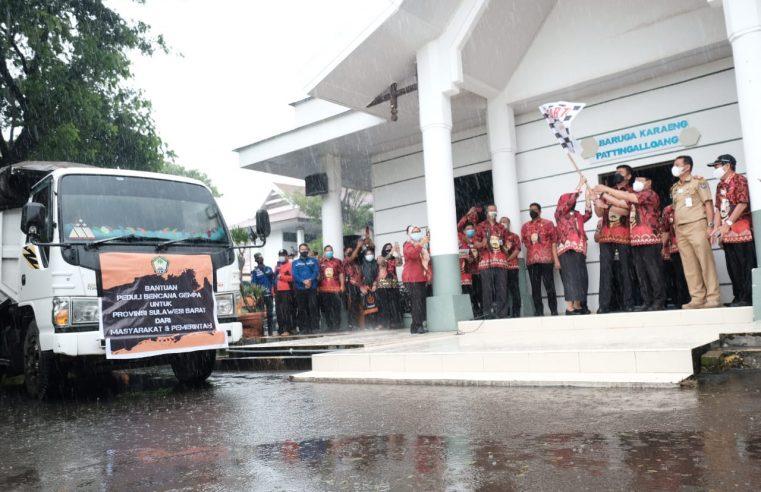 Bupati Gowa Lepas Pengiriman Bantuan untuk Korban Gempa Sulbar