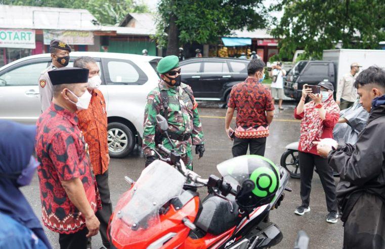 Hari Kedua Penegakan Pendisiplinan Prokes, Wabup Gowa Tinjau Jalan Usman Salengke