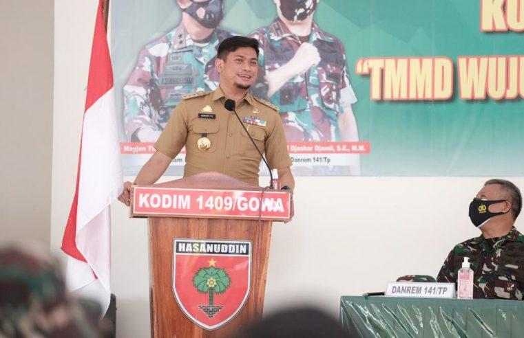 Bupati Adnan : Program TMMD Implementasi TNI Membangun Desa