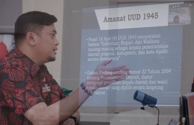 Pembicara di LK II HMI Cagora, Bupati Adnan: Indonesia Emas di Tangan Pemimpin Milenial