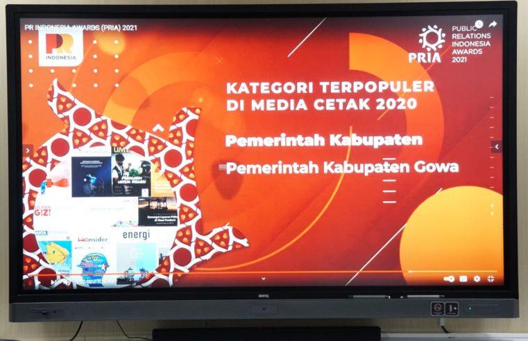PRIA 2021 : Gowa Jadi Kabupaten Terpopuler di Media Cetak Tahun 2020