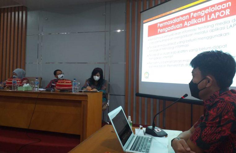 Tim Verifikasi Lapangan Kompetisi Inovasi Pelayanan Publik Puji Inovasi Sahabat LAPOR Gowa