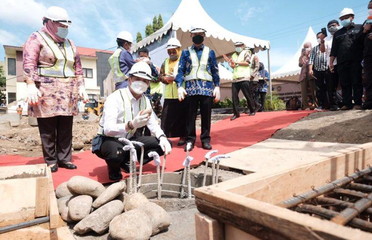 Dapat Bantuan DAK, Pembangunan Perpustakaan Umum Kabupaten Gowa Mulai Dibangun